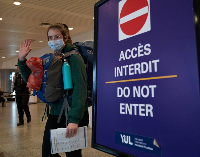 The State Department on Tuesday lowered its travel recommendations for dozens of countries, including Canada. Photo by Andre Pichette/EPA-EFE