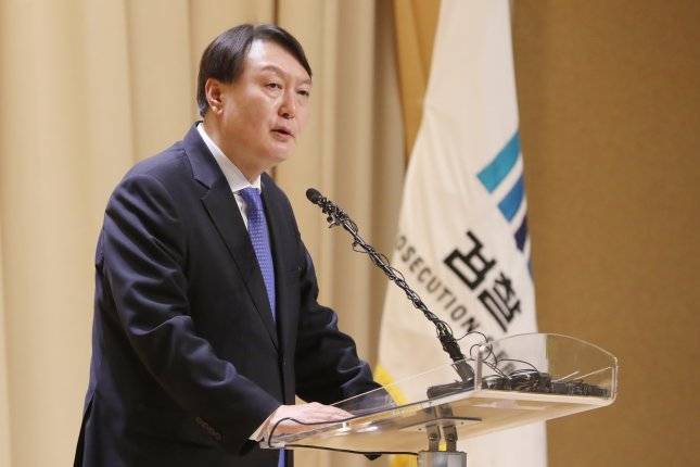Former South Korean Prosecutor General Yoon Seok-youl confirmed plans to bring his presidential campaign to the main opposition People Power Party. File Photo by Yonhap/EPA-EFE