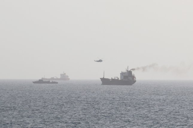 Motor Tanker Wila, a merchant vessel in international waters en-route to the UAE port of Khor Fakkan, in the Gulf of Oman, was boarded by armed Iranian personnel from both an Iranian Sea King helicopter and the Iranian auxiliary vessel Hendijan. Photo by U.S. Naval Forces Central Command/U.S. 5th Fleet