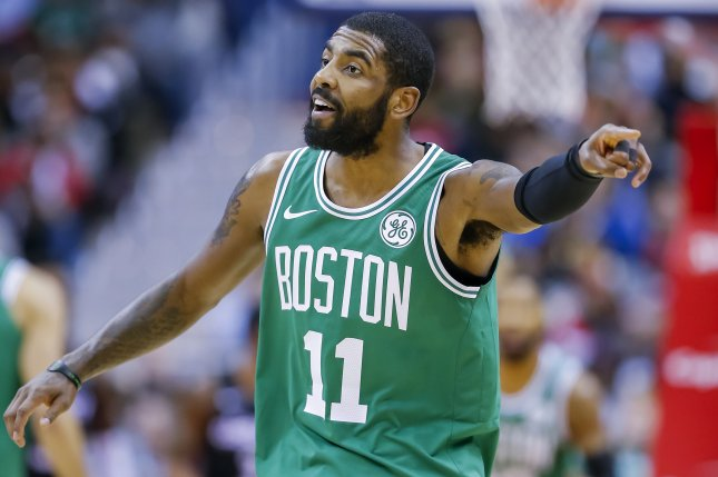 Boston Celtics point guard Kyrie Irving is eligible to enter free agency following the season. Photo by Erik S. Lesser/EPA-EFE