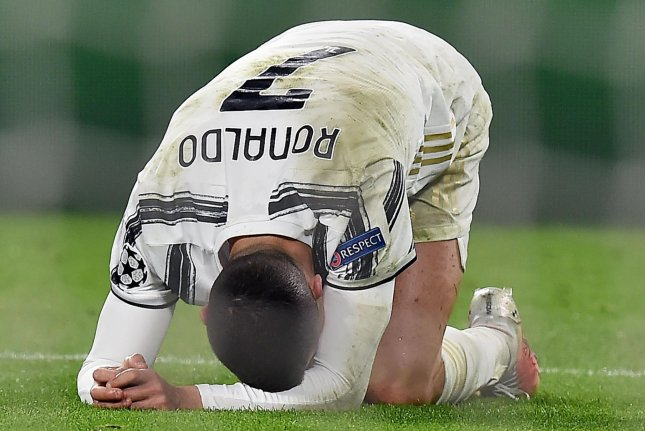 Porto eliminated Cristiano Ronaldo and Juventus from the Champions League on Tuesday in Turin, Italy. Photo by Alessandro Di Marco/EPA-EFE