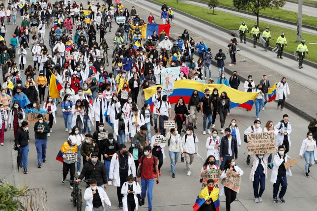 Colombian President Ivan Duque rescinded a nationwide tax increase plan as at least 19 people have died in ongoing protests against the measure that began on Wednesday. Photo by Carlos Ortega/EPA-EFE