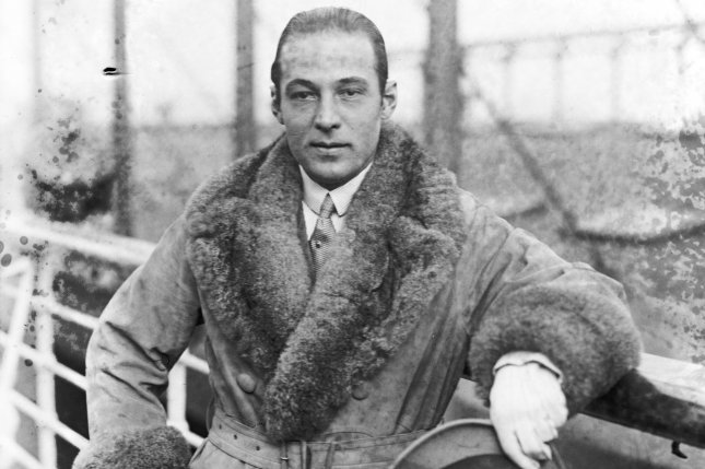 Portrait of Rudolph Valentino, famed silent film actor known for his breakout role in The Sheik. File Photo by Library of Congress/UPI