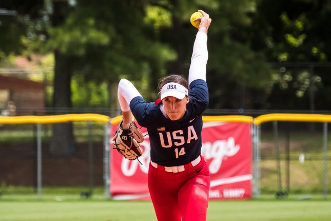 Team USA pitcher Monica Abbott threw nine strikeouts and allowed one hit in seven scoreless innings against Canada at the Summer Games on Thursday in Fukushima, Japan. Photo by Jade Hewitt, courtesy of USA Softball