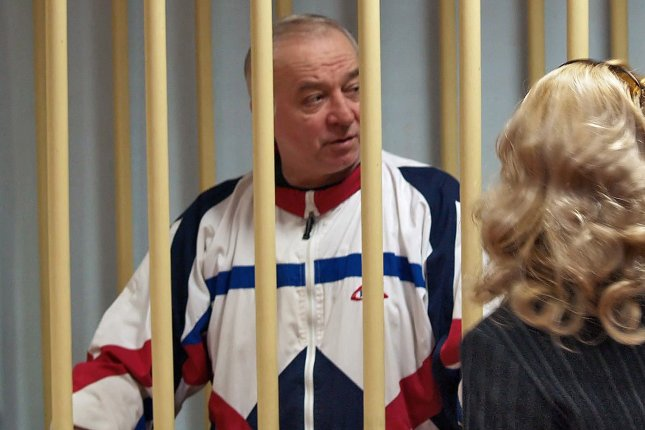 Sergei Skripal and his daughter were found unconscious on a bench in a British shopping mall on March 4. File photo by Yury Senatorov/EPA-EFE