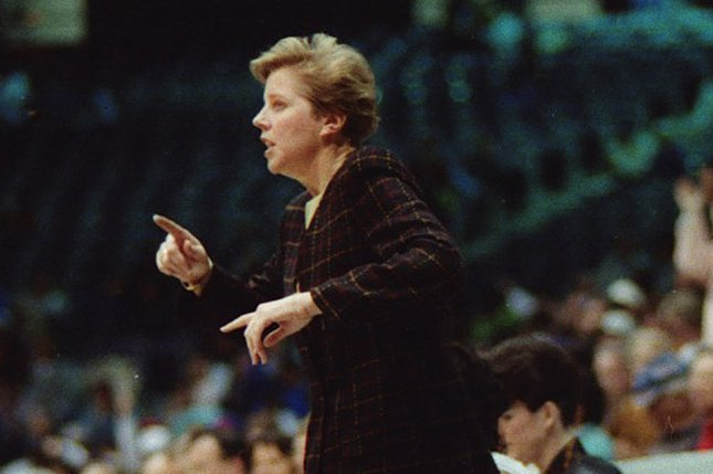 Sue Donohoe, who died Sunday, served as an assistant women's basketball coach at Stephen F. Austin State University before her tenure as an NCAA administrator. Photo courtesy of Hardy Meredith/SFASU Marketing Communications