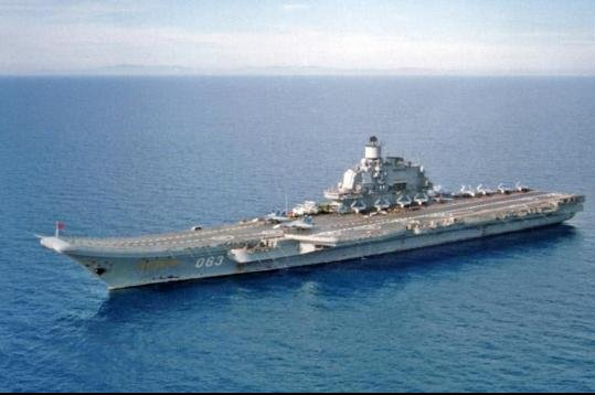 The centerpiece of Russian naval operations in Syria was the deployment from its Northern Fleet of the country's sole aircraft carrier, the Admiral Flota Sovetskogo Soyuza Kuznetsov, in its first combat mission. File Photo courtesy of U.S. Department of Defense