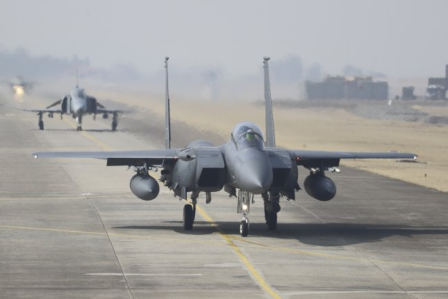 South Korean fighter jets are to be equipped with domestically developed active electronically scanned array, Seoul's Defense Acquisition Program Administration said Friday. File Photo by Yonhap News Agency