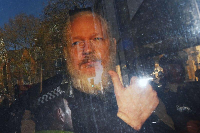 Wikileaks founder Julian Assange is currently serving a 50-week jail sentence in Britain for skipping bail. EPA-EFE/STRINGER