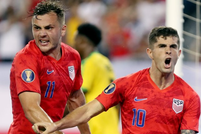 United States Men's National Team striker Christian Pulisic (R) could be featured on the team's roster for a Nov. 12 friendly against Wales. Photo by Alan Poizner/EPA-EFE