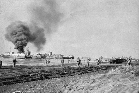 U.S. Army troops land at Anzio, Italy, in Operation Shingle on January 22, 1944. File Photo courtesy of the U.S. Army