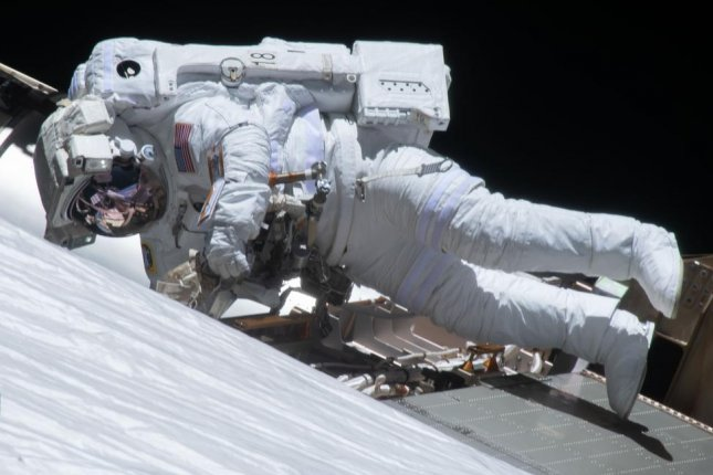 NASA astronauts Kate Rubins and Soichi Noguchi are scheduled for a spacewalk Friday, following a similar effort that included Victor Glover (pictured) on Sunday. Photo courtesy of NASA