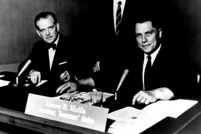 Jimmy Hoffa, president of the International Brotherhood of Teamsters, in a 1961 photo.