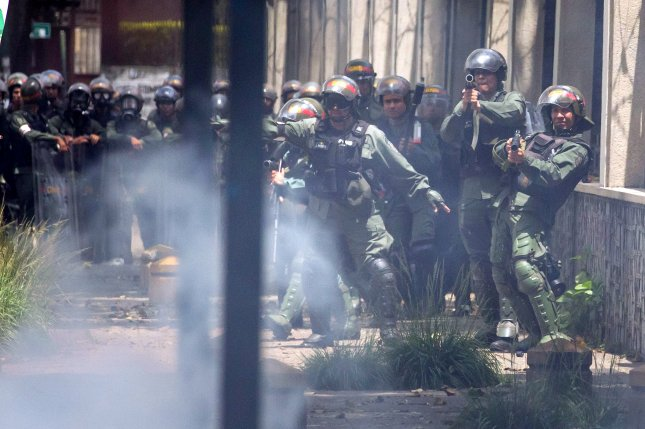 Venezuela's Ministry of Defense on Wednesday said it has deployed 2,600 security forces to the state of Táchira following looting and rioting that has killed three people in the past week. File Photo by Miguel Gutierrez/EPA