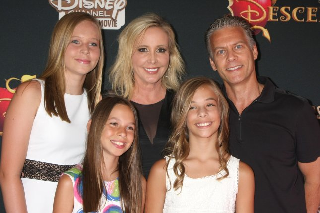 Shannon Beador (C), pictured here with David Beador and their daughters, thanked friends and fans for their support following news of her separation from David. File Photo by Helga Esteb/Shutterstock