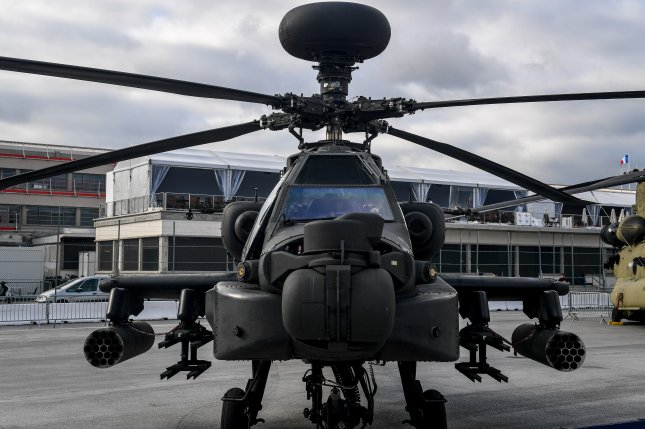 An AH-64 Apache helicopter crashed late Friday in a training base in Fort Campbell, Ky., claiming the lives of two U.S. Army soldiers. File Photo by Tech. Sgt. Ryan Crane/U.S. Air Force/UPI