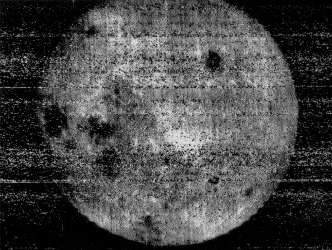 The first image of the far side of the moon was taken by the Soviet spacecraft, Luna 3, on October 7, 1959, and transmitted back to earth on October 18. File Photo by NASA
