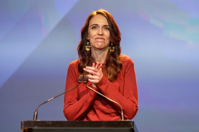 New Zealand Prime Minister Jacinda Ardern announced quarantine-free travel between Australia will commence on April 19. File Photo by David Rowland/EPA-EFE