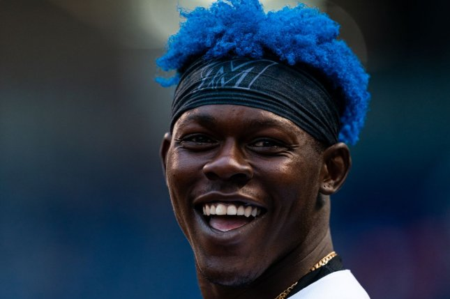 Rookie second baseman Jazz Chisholm has provided energy and production for the new-look Miami Marlins in 2021. Photo by Joseph Guzy/Miami Marlins
