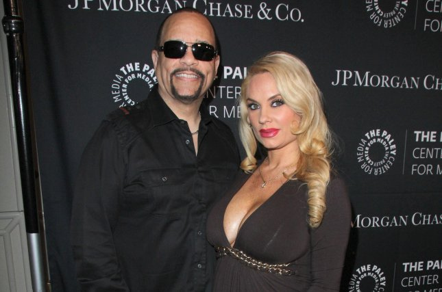 Coco Austin (R), pictured here with Ice-T, shared an adorable video of daughter Chanel performing at the actor's band practice Tuesday. File Photo by Helga Esteb/Shutterstock
