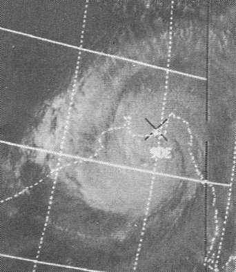A tropical cyclone -- later known as the Bhola cyclone -- is situated over the Bay of Bengal on November 12, 1970. Image courtesy NOAA