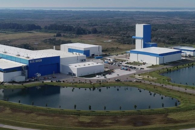 This is Blue Origin's rocket factory in Florida is where the company builds the New Glenn rocket, now delayed until 2022. Photo courtesy of Blue Origin