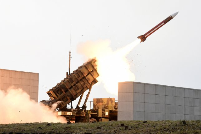 Israeli defense forces said Wednesday they shot down an unmanned Syrian drone with a U.S.-supplied Patriot missile. Officials said the drone flew over the border from Jordan and stayed in flight for 16 minutes. File Photo by Yonhap/EPA-EFE