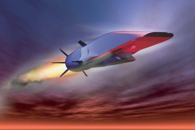 An artist's rendering of a hypersonic strike weapon prototype. Photo courtesy of the U.S. Air Force