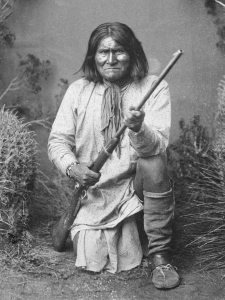 On February 17, 1909, Apache leader Geronimo died while under military confinement at Fort Sill, Okla. File Photo by Ben Wittick/U.S. National Archives