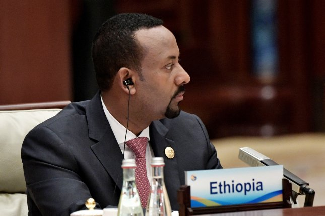 Ethiopian Prime Minister Abiy Ahmed attends a forum in Beijing, China, on April 27. Four people were killed, including Ethiopia's army chief of staff and three other senior officers, in a failed coup attempt Saturday night. Photo by Alexey Nikolsky/Sputnik/Kremlin/pool/EPA