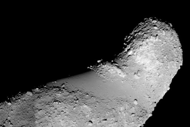 Arizona State University researchers recently found water in fragments of an asteroid called Itokawa. Photo by Z. Jin and M. Bose/ASU/JAXA
