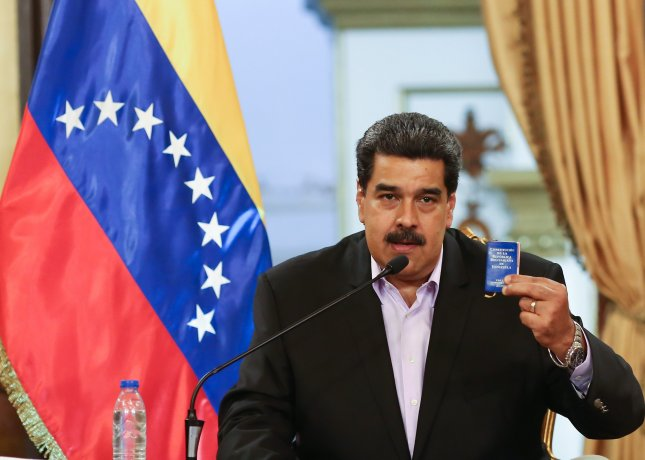 Venezuelan President Nicolas Maduro expelled El Salvador's diplomats from his country in retaliation for El Salvador kicking his representatives out of the Central American country the day before. Photo by the Venezuelan government/EPA/EFE