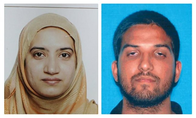 Tashfeen Malik (L) and Syed Farook, who police say opened fire at a holiday party in San Bernardino, Calif., on Dec. 2, 2015 killing 14 people and injuring 17 others.