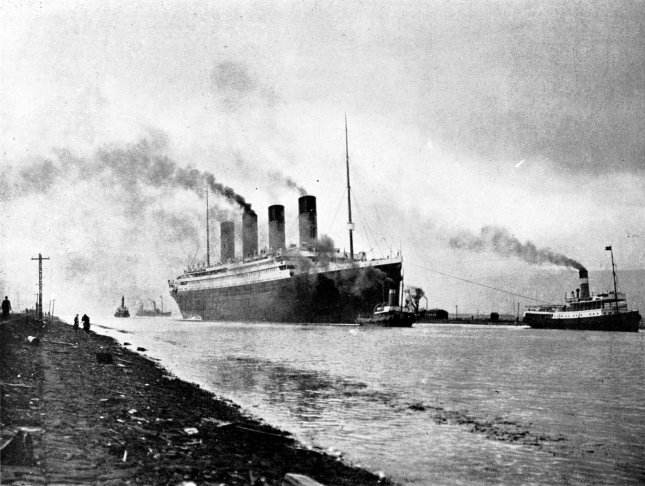 RMS Titanic undergoes sea trials on April 2, 1912. File Photo courtesy National Archives