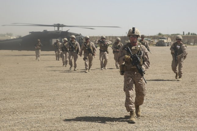 Tuesday, the Taliban released an open letter to President Donald Trump, urging him to withdraw from Afghanistan. File Photo by Sgt. Lucas Hopkins/U.S. Marine Corps/UPI