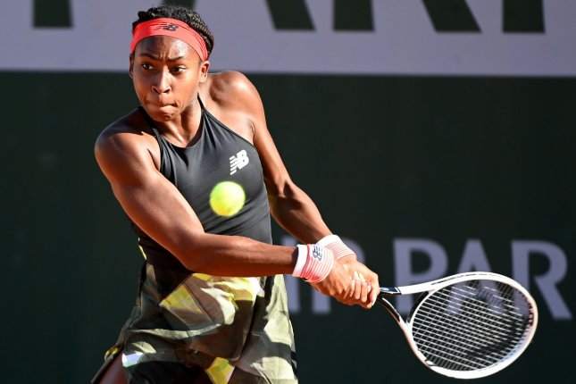 Cori Coco Gauff is one of several American players still active in the women's singles circuit at the 2021 French Open this weekend in Paris. Photo by Caroline Blumberg/EPA-EFE