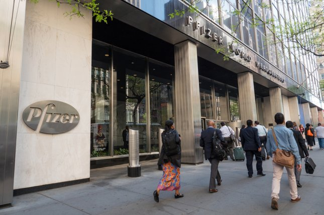 Pfizer, with world headquarters in New York, was fined $107 million for increasing the cost of an epilepsy drug as much as 2,600 percent in Britain. FIle photo by pio3/Shutterstock