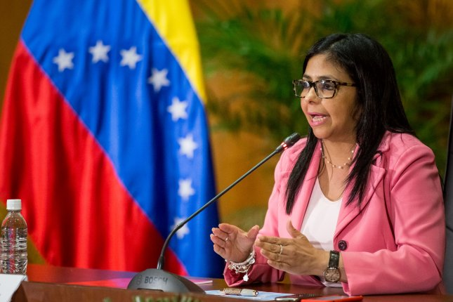 Venezuelan Foreign Minister Foreign Minister Delcy Rodríguez on Tuesday said she would withdraw Venezuela from the Organization of American States if the bloc holds a meeting on the South American country's crisis without approval. The OAS Permanent Council on Wednesday is scheduled to hold a meeting on whether the OAS will hold a meeting with foreign ministers over Venezuela. File Photo by Miguel Gutierrez/EPA