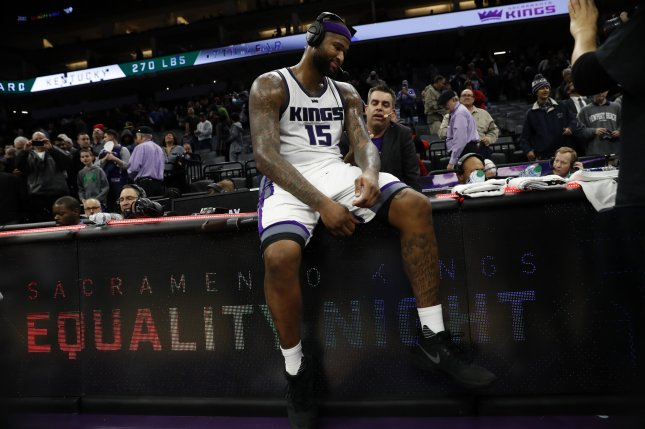 Sacramento Kings forward DeMarcus Cousins gets ready to play the Detroit Pistons on Jan. 10, 2017 at the Golden 1 center in Sacramento. (EPA/JOHN G. MABANGLO)