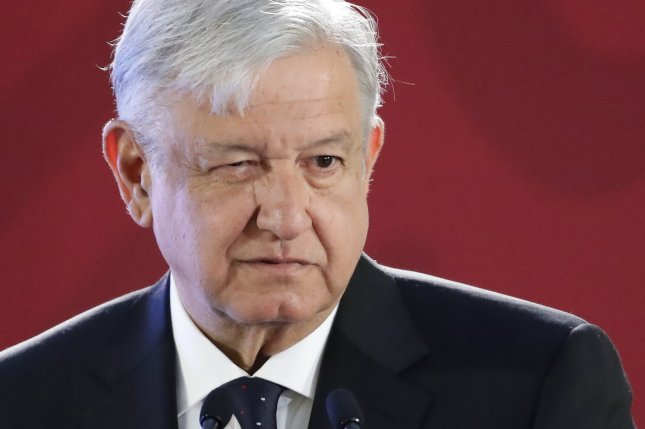 Mexican President Andres Manuel Lopez Obrador said Monday the army will help with the surveillance of fuel pipelines. Photo by Jose Mendez/ EPA EFE