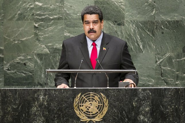 Venezuelan President Nicolas Maduro addresses the 69th Session of the General Assembly of the United Nations in New York City. Maduro's government declared that the state of economic emergency has been extended for another 60 days. The government cites the extraordinary circumstances of social, economic, political, natural and ecological order that seriously affect the national economy, as the reason for the third extension. Photo by UPI