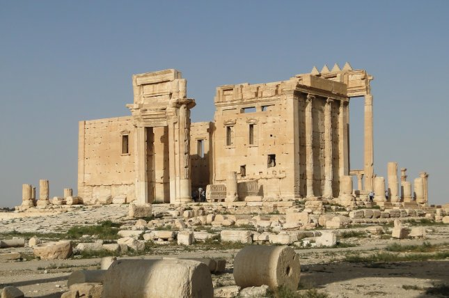 Officials in Syria confirmed the Islamic State attempted to destroy the historic temple of Bel in Palmyra, though only succeeded in causing some damage. Photo by Bernard Gagnon/Wikimedia