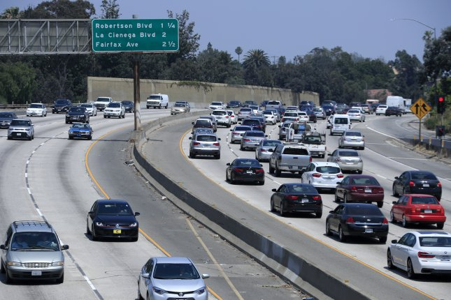 Transportation, a main driver of carbon emissions, declined 0.2 percent from the previous year, the report said. File Photo by Mike Nelson/EPA