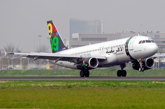 An undated 2008 file photo shows an airplane from Libya's national airline, Afriqiyah Airways, at Schiphol Airport in Amsterdam, Netherlands. An Afriqiyah Airways flight was hijacked on December 23 and diverted to Malta. Photo by Markus Tillman/European Pressphoto Agency
