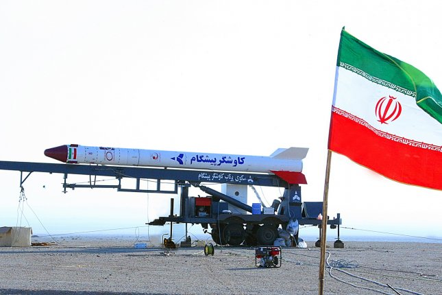 A picture made available in January 2013 shows an Iranian rocket that carried a monkey into space. The country launched another space rocket Thursday, prompting sanctions from the United States. EPA File Photo