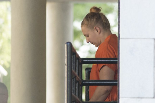 Former National Security Agency contractor Reality Leigh Winner, pictured June 8, 2017, must spend 63 months in jail. File Photo by Chris Aluka Berry/EPA