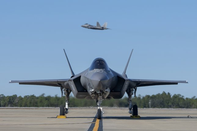 An F-35A Lightning II assigned to the 58th Fighter Squadron awaits permission to taxi on Dec. 4 at Eglin Air Force Base, Fla. Photo by Staff Sgt. Peter Thompson/U.S. Air Force