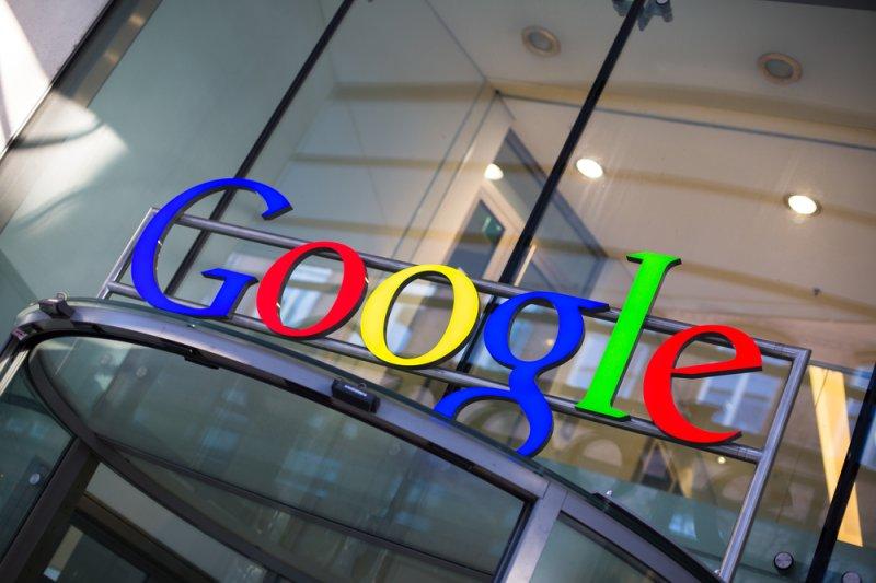 Google office building entrance sign in Hamburg, Germany. (UPI/Shutterstock/lightpoet)