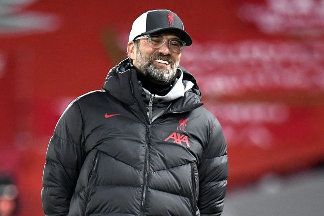 Manager Jurgen Klopp and Liverpool lost to Atalanta in the Champions League Wednesday in Liverpool, England. Photo by Peter Powell/EPA-EFE