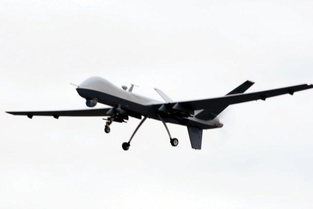 Elbit Systems' Two Color Laser System is used on aircraft that includes unmanned aerial vehicles, such as the MQ-9, shown here in this 2015 file photo. File Photo courtesy U.S. Air Force